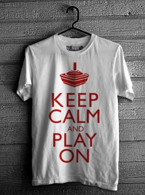 Keep Calm & Play On - White