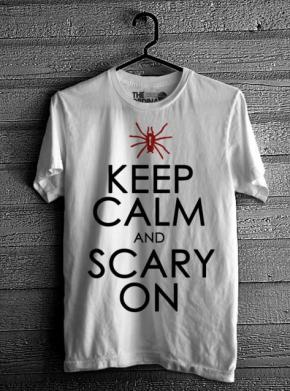 Keep Calm & Scary On - White