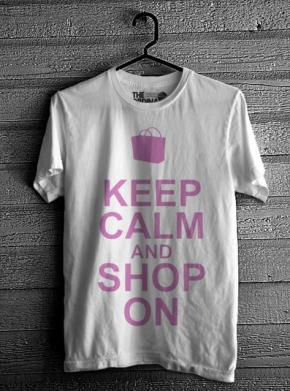 Keep Calm & Shop On - White