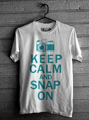 Keep Calm & Snap On - White