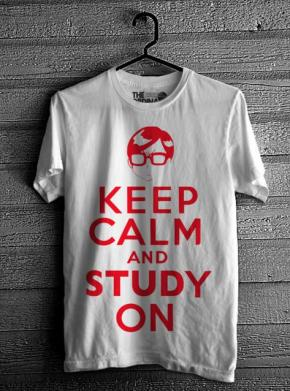 Keep Calm & Study On - White