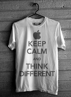 Keep Calm & Think Different - White